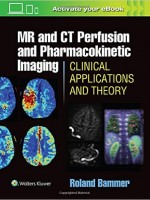 MR and CT Perfusion and Pharmacokinetic Imaging