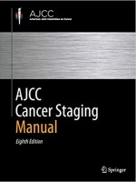 AJCC Cancer Staging Manual, 8e
